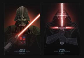 Star Wars Villains by InkTheory
