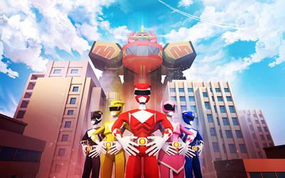 Power Rangers by InkTheory