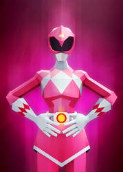 Pink Ranger by InkTheory