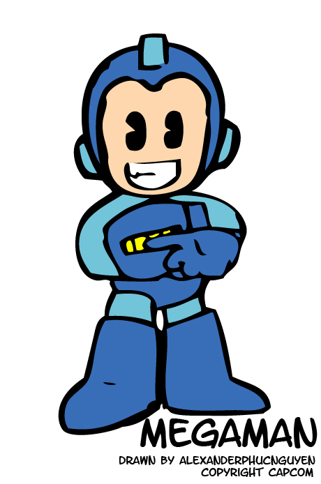 Megaman Chibi by b00gerhead