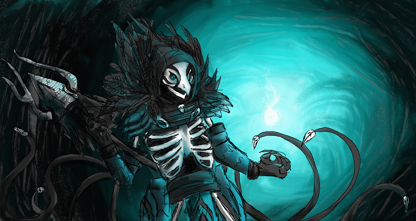 Azir necromancer skin drawing 2 by cheasedragon
