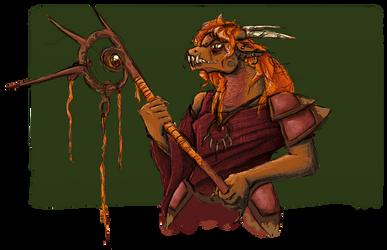 Dragonborn Sorcerer by cheasedragon