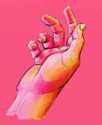 Exaggerated colour hand study by cheasedragon