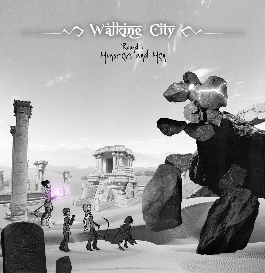 - Walking City Round 1 cover - by dragol
