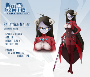 WoP character sheet - Bellatrice by dragol