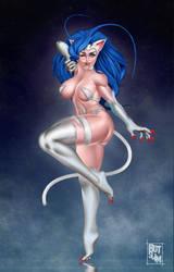 Darkstalkers challange Felicia by botslim