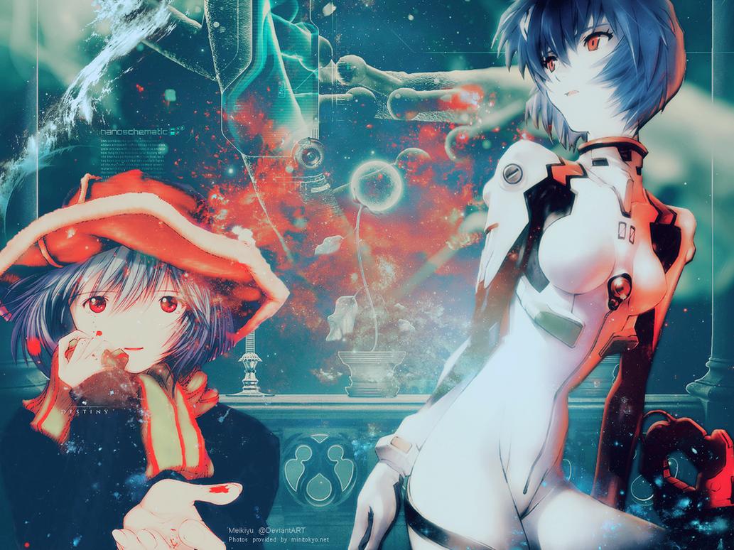 Neon Genesis Evangelion Rei Ayanami Wallpaper By Meikiyu