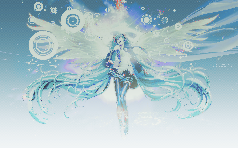 hatsune miku angel wallpapers - photo #6
