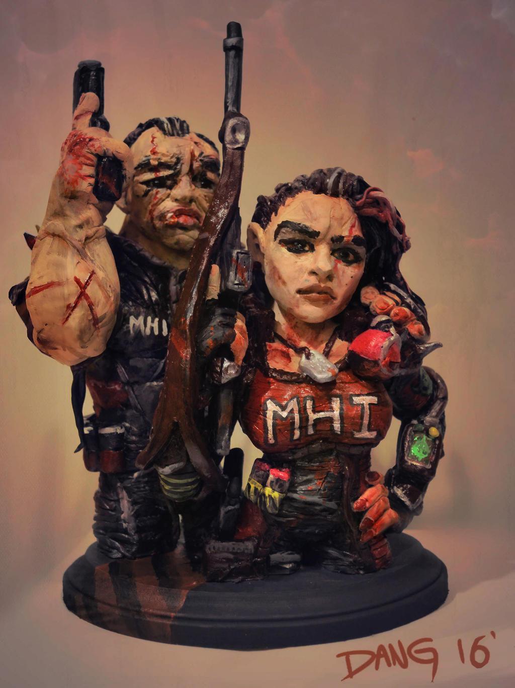 Monster Hunters International Sculpture - Final