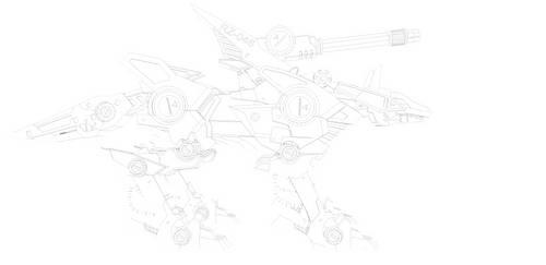 Shadow Fox lineART by ISPMatsumotoTakanori