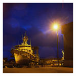rainy night at the shipyard by EintoeRn