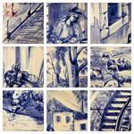 azulejos do moinho de papel