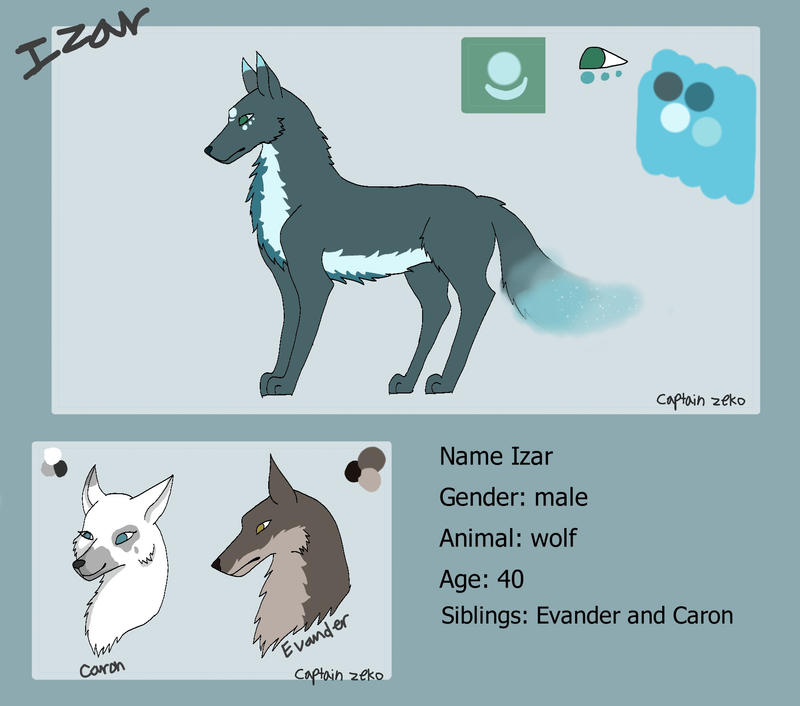 Izar reference sheet by Captain-Zeko