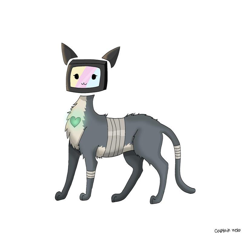 TV cat by Captain-Zeko