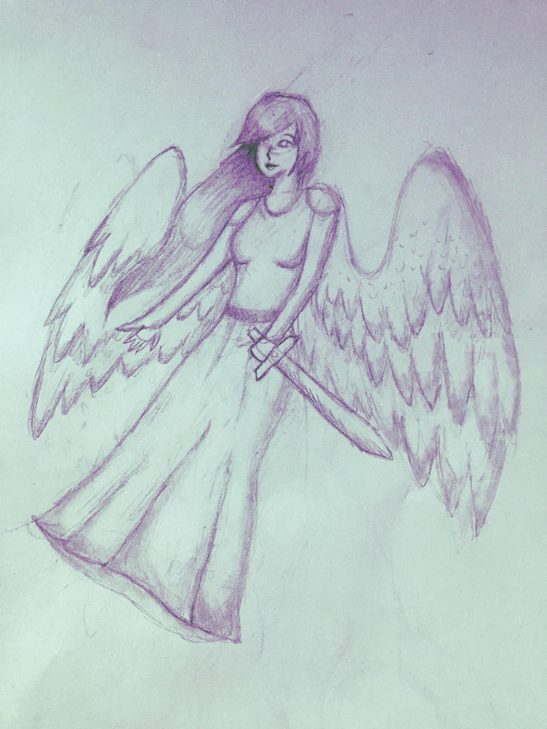 Angel sketch by Captain-Zeko
