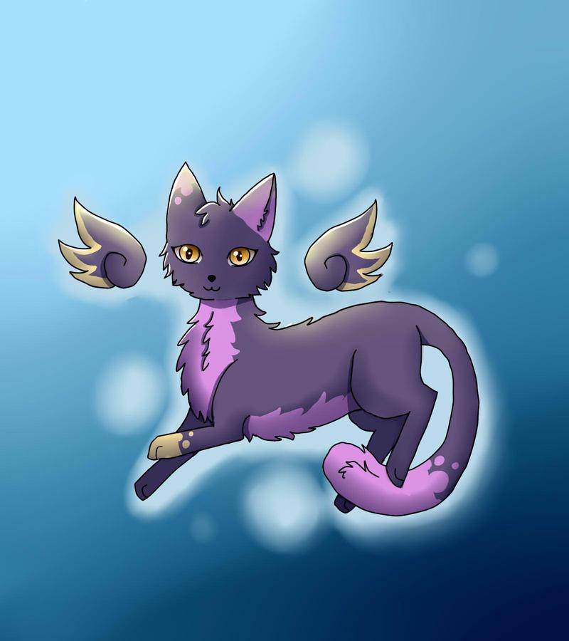 purple cat by Captain-Zeko