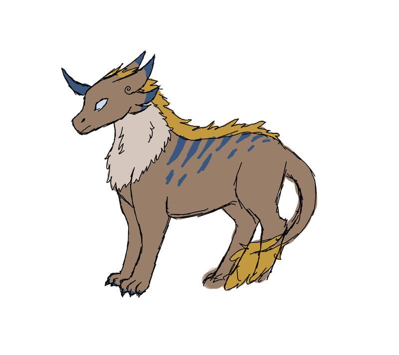 new creature idea sketch by Captain-Zeko