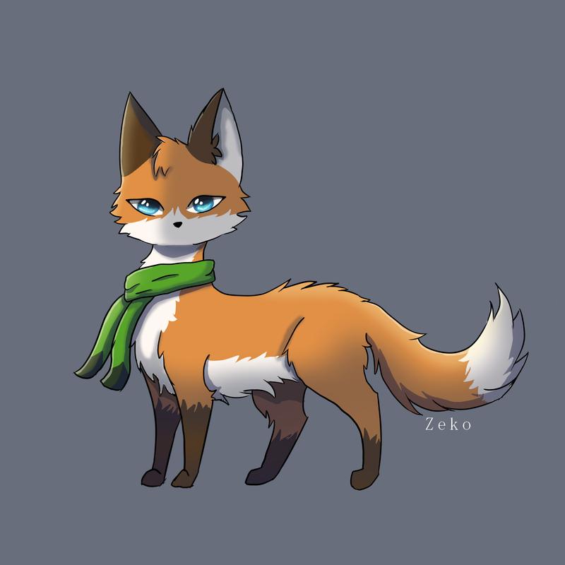 fox drawing by Captain-Zeko
