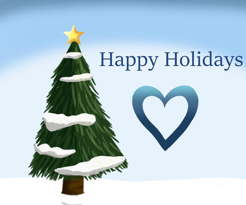 Happy Holidays (doodle) by Captain-Zeko