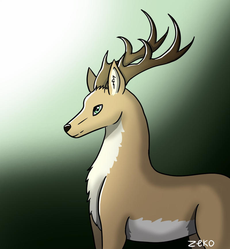 Deer Drawing by Captain-Zeko