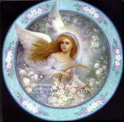 Angel in garden