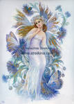 Cornflower-blue fairy