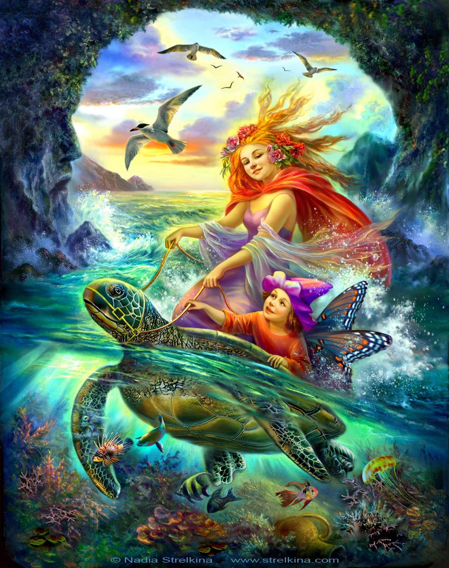 Sea fairies by Fantasy-fairy-angel