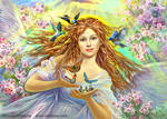 Spring angel by Fantasy-fairy-angel