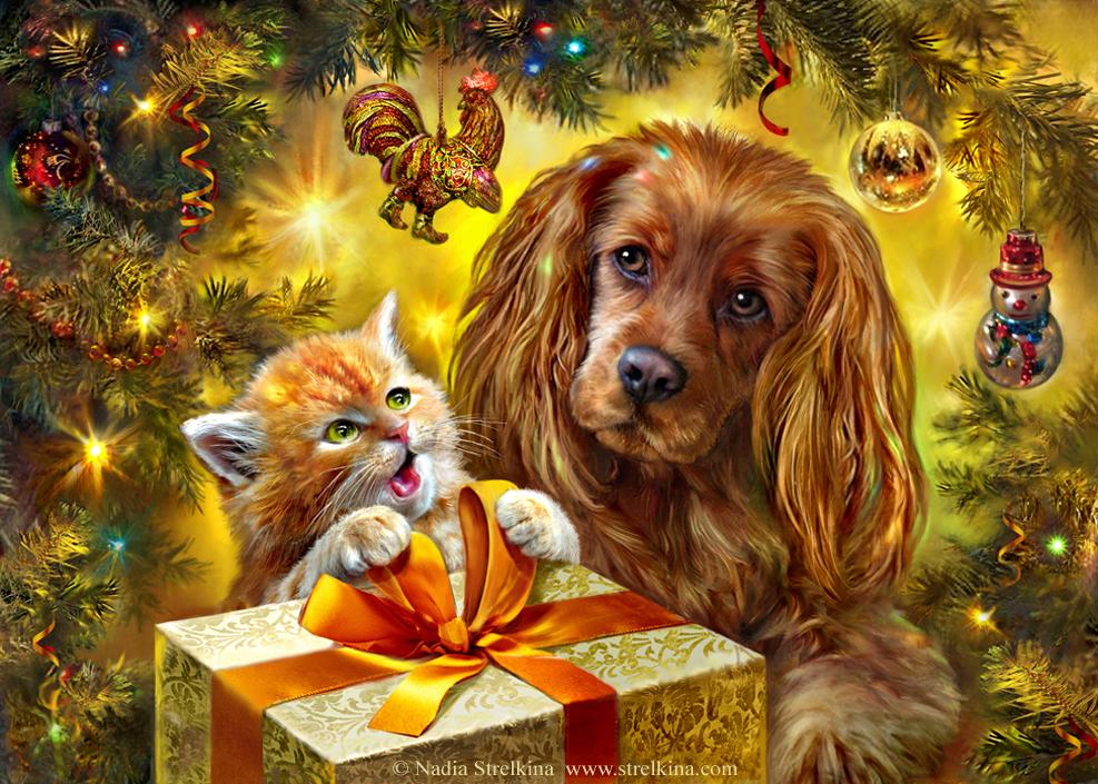 "Конкурс ""Символ года"". Голосование.  Happy_new_year_of_the_dog__by_fantasy_fairy_angel-dbjag3p"