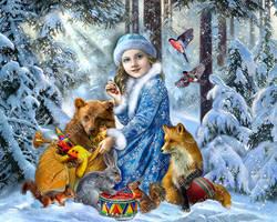 Snowmaiden by Fantasy-fairy-angel