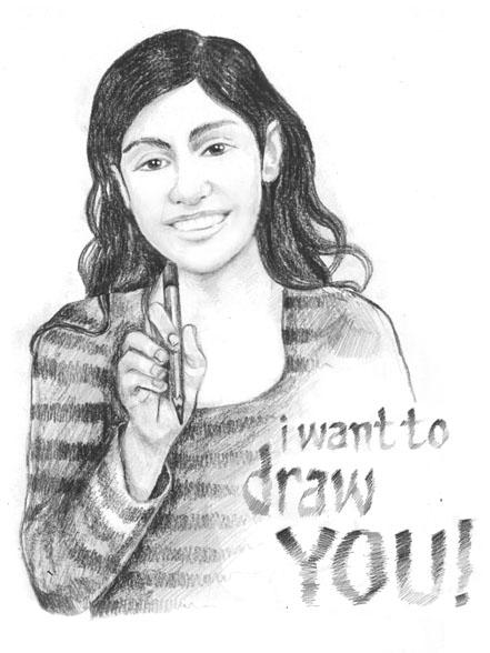 I want to draw: MYSELF by preciado