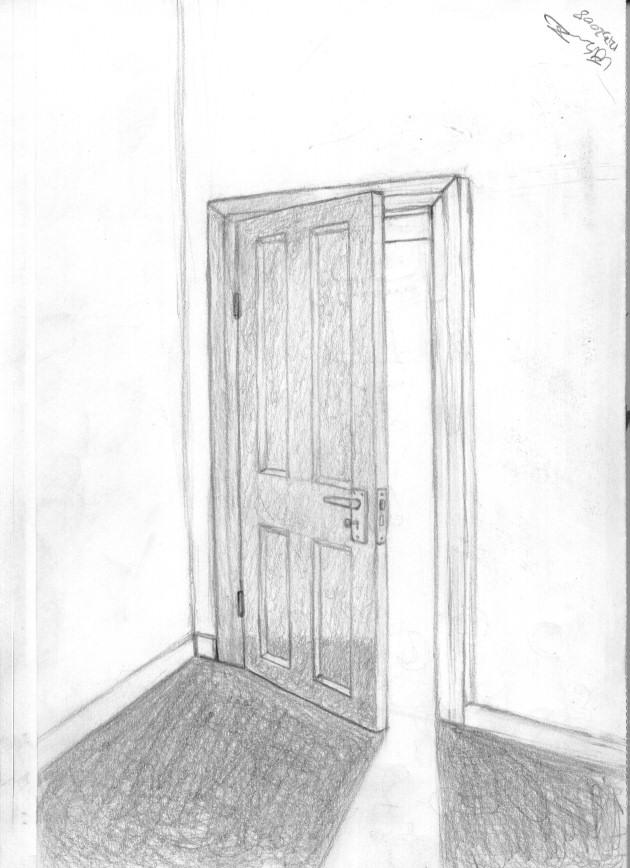 closed door drawing. Simple Door Door Sketch By AJUST  And Closed Drawing R