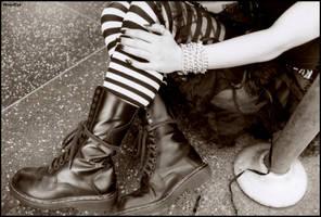 Aviva boots on the strip by woodeye