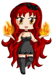 [Commission60] Chibi Cleo: Fire Powers by izka-197