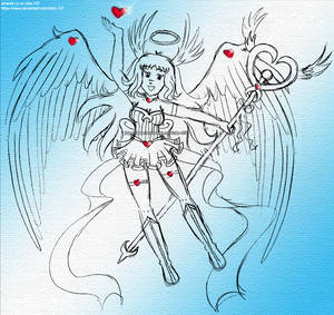 Angel Izka- Queen of Hearts Sketch