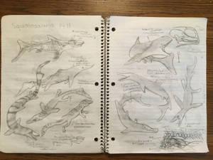 Squalosauria Sketches Pt II