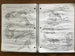 Xenosuchosauria Sketches Pt II