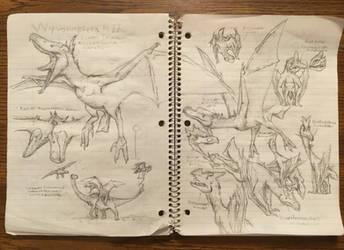 Wyvonoptera Sketches Pt II