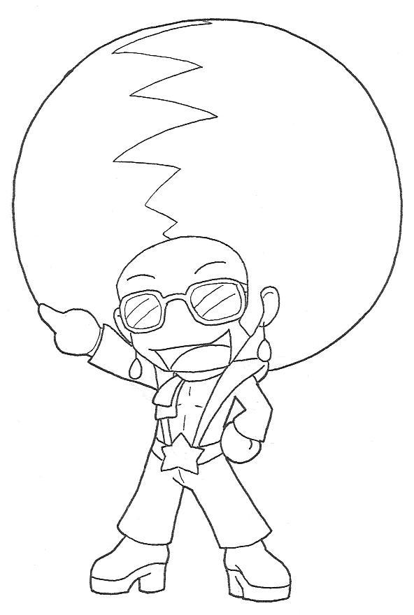 disco coloring pages | Disco Stu Colouring Pages Sketch Coloring Page