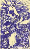 ballpoint pen doodle by cadaverperception
