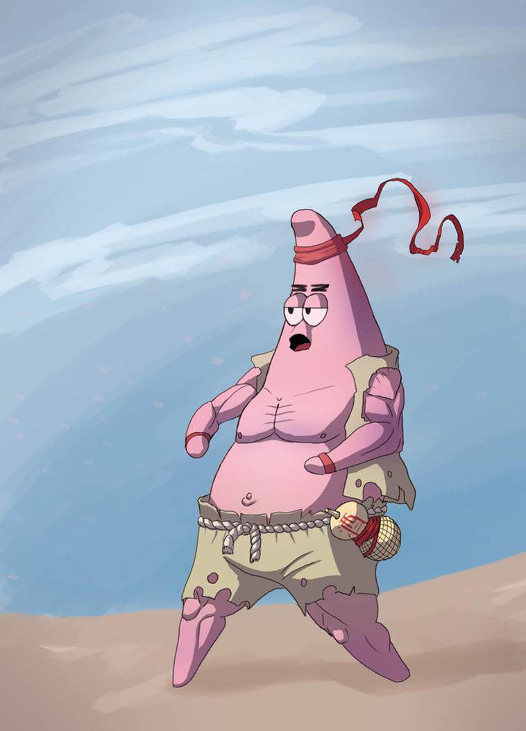 Patrick star-the drunk karate master by PsichooArt