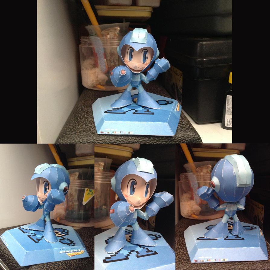 Megaman powered up papercraft by thithou