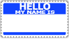 Hello, my name is.. Stock Blue by cfryant