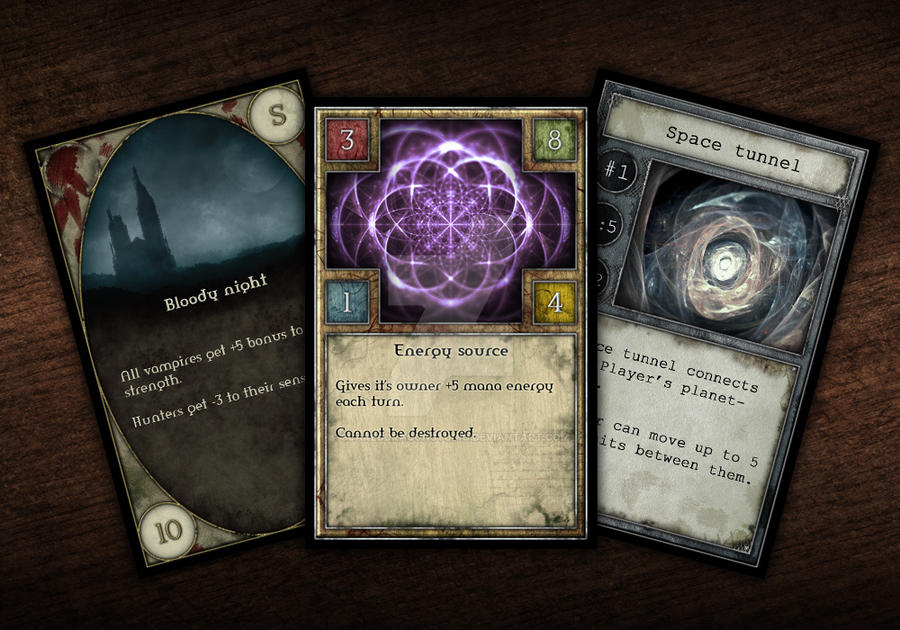 Game Cards Design Kit by scareddragon-pl