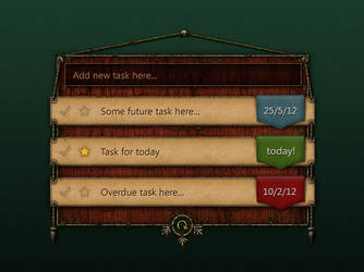Task list - fantasy / game approach by scareddragonstudio