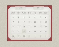 Calendar widget design