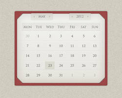 Calendar widget design by scareddragonstudio