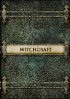 Witchcraft -  old vintage style book cover concept by scareddragonstudio