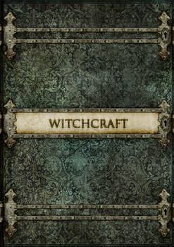 Witchcraft -  old vintage style book cover concept