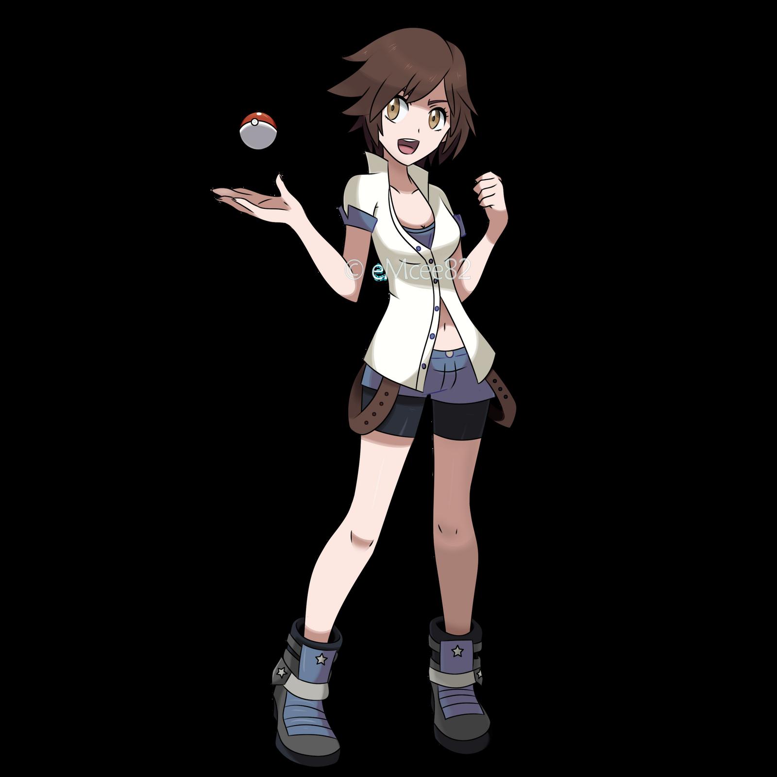 asuka kazama as pokemon trainer by emcee82 on deviantart